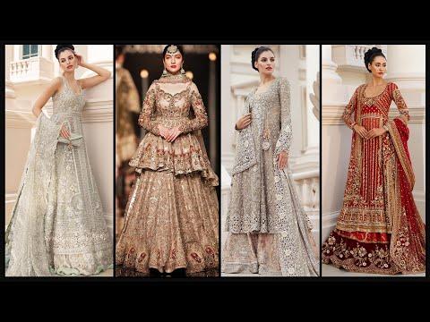 Indian & Pakistani Ethnic Wedding Bridal & Party wear dresses Indo western Lehenga Gown designs-FSHC