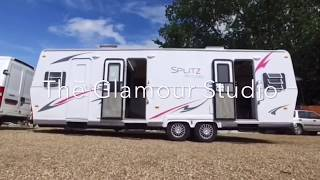 The Glamour Studio 3 Position Costume Make up Truck for Film T.V and Other Media productions