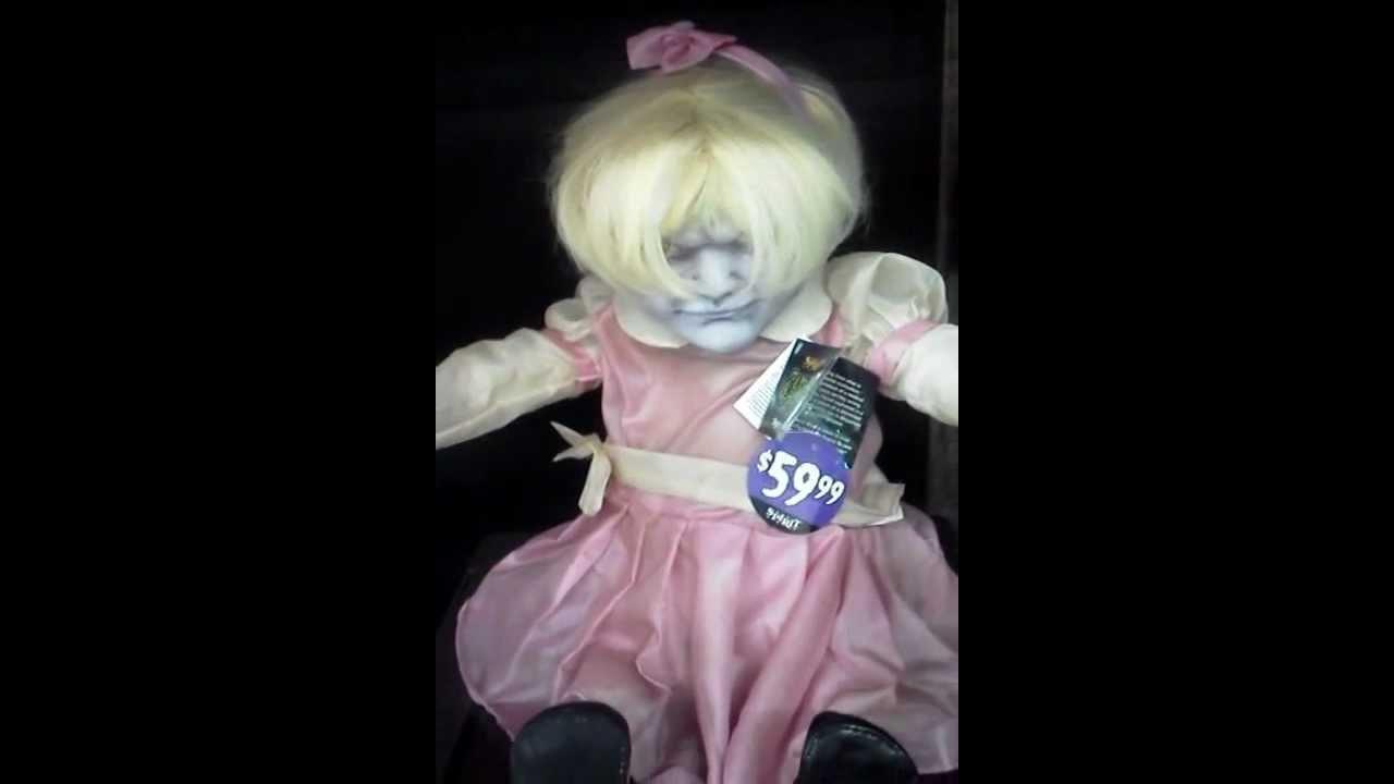 spirit halloween zombie baby animated props youtube