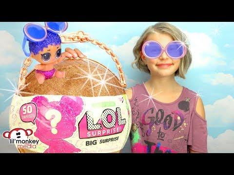 😂  LOL Surprise Big Surprise Ball - Big & Lil Sisters Baby Dolls 50 Surprises!