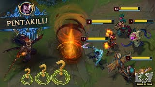 Yasuo 1v5 Pentakill League of Legends Plays - LoL Best Moments