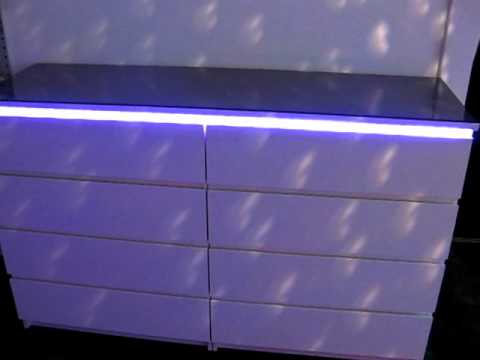 led stripe feat ikea malm youtube. Black Bedroom Furniture Sets. Home Design Ideas