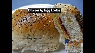 Bacon & Egg Bread Rolls