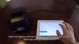Http://www.owlposprinters.com - simple how to video show you pairing between a star tsp650ii bti bluetooth printer and an ipad with the square register ap...