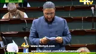 Asaduddin Owaisi Speech in Parliament 06-03-2013