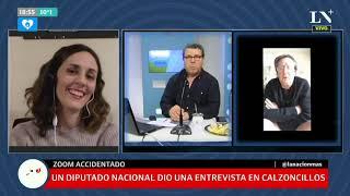 Insólito: Un Diputado Nacional Dio Una Entrevista En Calzoncillos