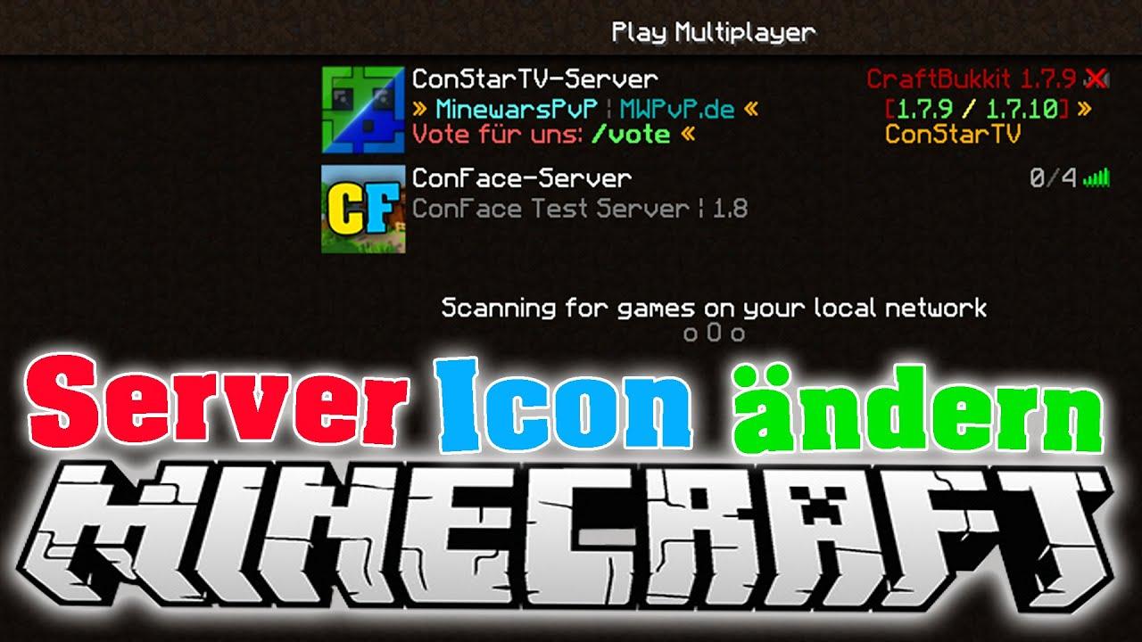 MINECRAFT Server Icon AustauschenÄndern In SEKUNDEN - Minecraft namen andern 1 8 deutsch