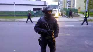 Lithuanian Special Forces Aras Escroting the Euros Delivery