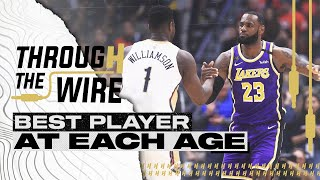 Best NBA Player at Each Age | Through The Wire Podcast