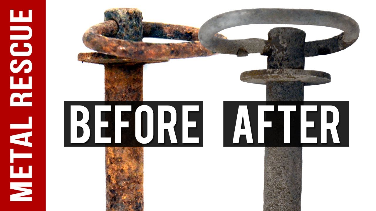 How To Remove Rust From A Hitch Pin Using Metal Rescue Rust Remover Bath