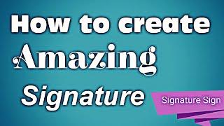 كيفية إنشاء مذهلة التوقيع الأبجدية -R