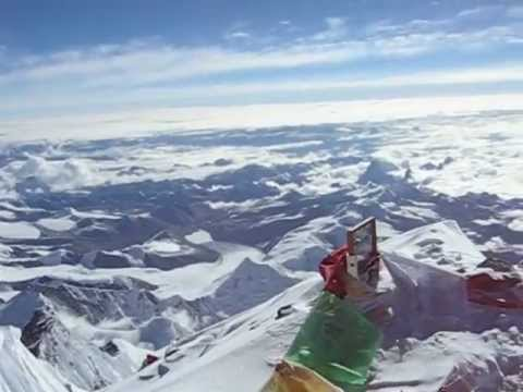 View from the top of Mt. Everest - YouTube
