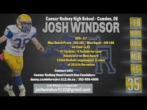 Josh Windsor 2016 Highlights, Caesar Rodney High School