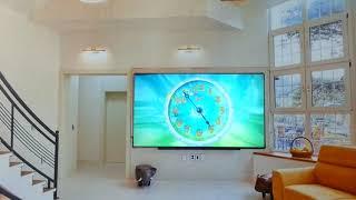디지털시계 액자 벽걸이수족관 벽난로 TV보면서 간편하게…