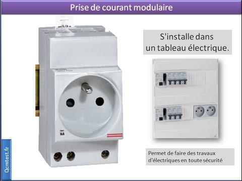 prise de courant modulaire 2p t dans le tableau lectrique youtube. Black Bedroom Furniture Sets. Home Design Ideas