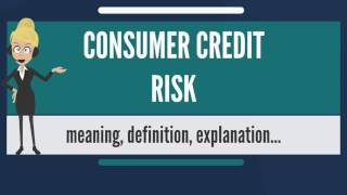What is CONSUMER CREDIT RISK? What does CONSUMER CREDIT RISK mean? CONSUMER CREDIT RISK meaning