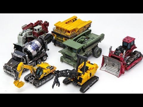 Transformers Movie 2 ROTF Decepticon Construction 7 Vehicles Trnasform Robots Toys