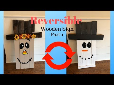 How to Make a Wooden Scarecrow/Snowman Sign