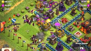 Clash of Clans hight level attack video