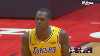 NBA Gives The Wrong Team The Score After Rajon Rondo and Lou Williams 3 Pointers! Lakers vs Clippers