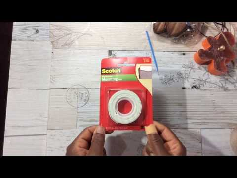 DIY:  How to make Double sided foam tape: Easy Quick and Cheap