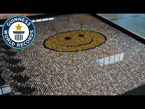 Most dominoes toppled underwater – Guinness World Records