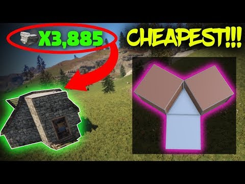 EXTREMELY CHEAP Small SOLO Starter Base Design | (*NEW*) Rust Base Building