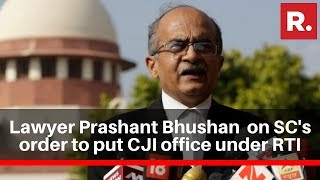 Lawyer Prashant Bhushan Speaks On Supreme Court's Order To Put CJI Office Under RTI