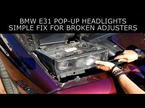 BMW E31 Pop-Up Headlight Repair and Refurbishing (840ci, 850ci and 850CSi)