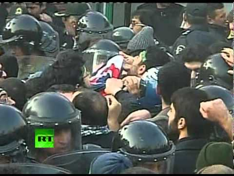 Iran attack video: UK embassy stormed in Tehran