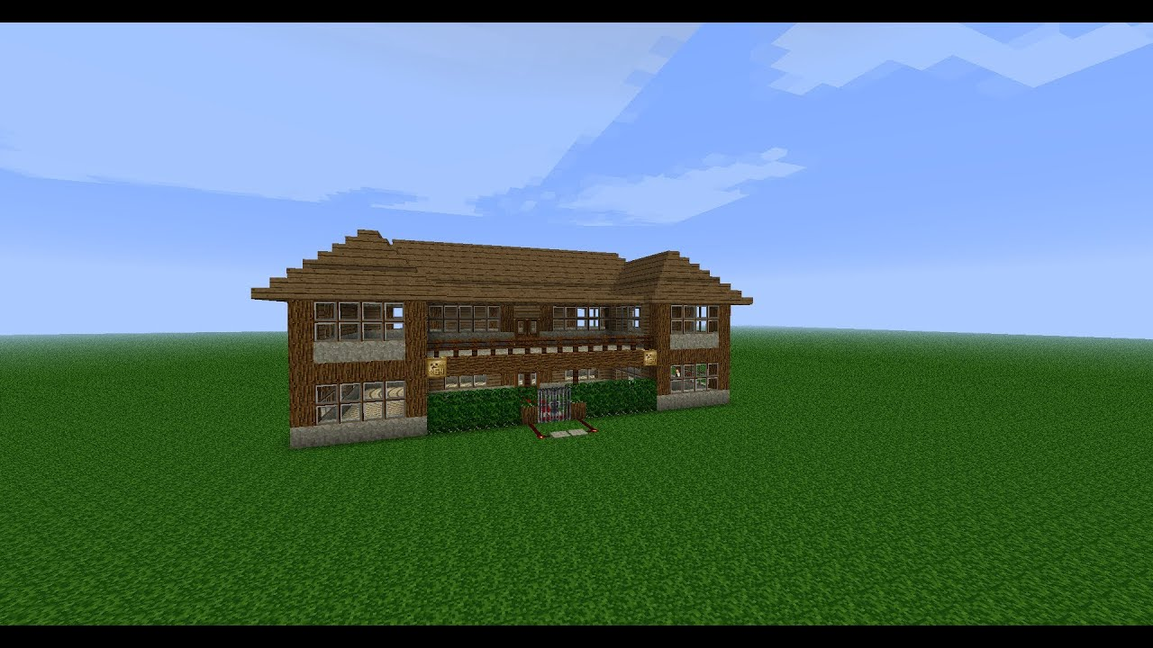 Minecraft construction d 39 une maison ep 3 le toit youtube - Construction minecraft maison ...