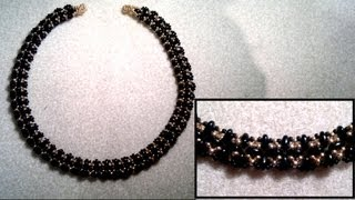 Beading4perfectionists : Superduo & miyuki seedbead classy necklace beading tutorial