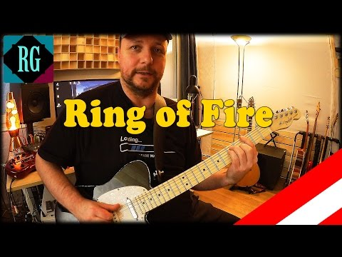 ★ RING OF FIRE ►INTRO + RHYTHM GUITAR ►GUITAR LESSON + COVER/TABS