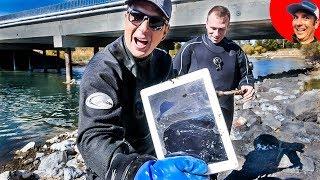 Found APPLE iPad, Phone, Trolling Motor and Sunglasses while River Treasure Hunting (Scuba Diving)