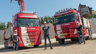 Grondig te werk met de Volvo FMX en FH5 van Van de Beeten... helemaal zand!