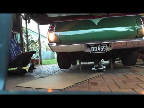 Supercharged 501 big block XB Falcon ute first start.