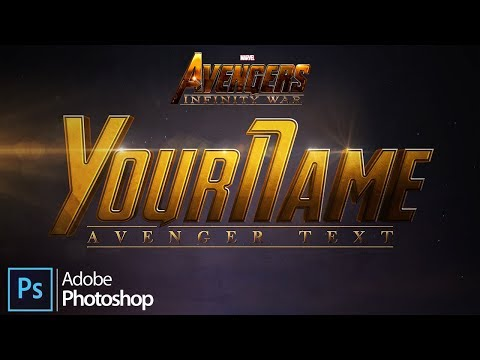 Create the Marvel Studios' Avengers: Infinity War Text in Adobe Photoshop [4K]