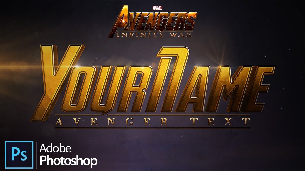 Create the Marvel Studios' Avengers: Infinity War Text in Adobe Photoshop  [4K]