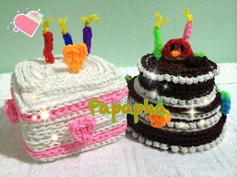 [Papapha] - สอนถักหนังยาง Rainbow Loom เป็นเค้กวันเกิด