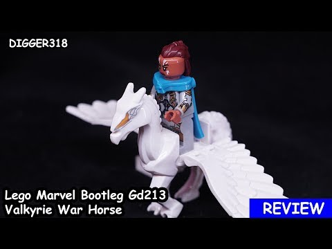 Lego Marvel Bootleg Gd213 Valkyrie War Horse Review 4K