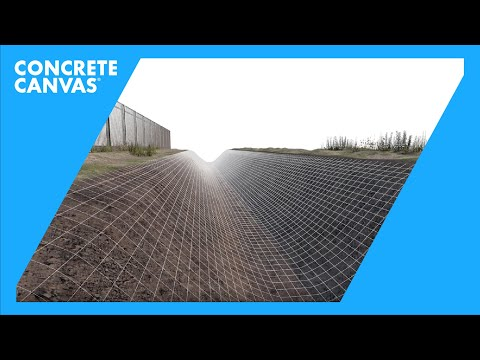 Concrete Canvas Ditch Lining Installation Video - Spanish
