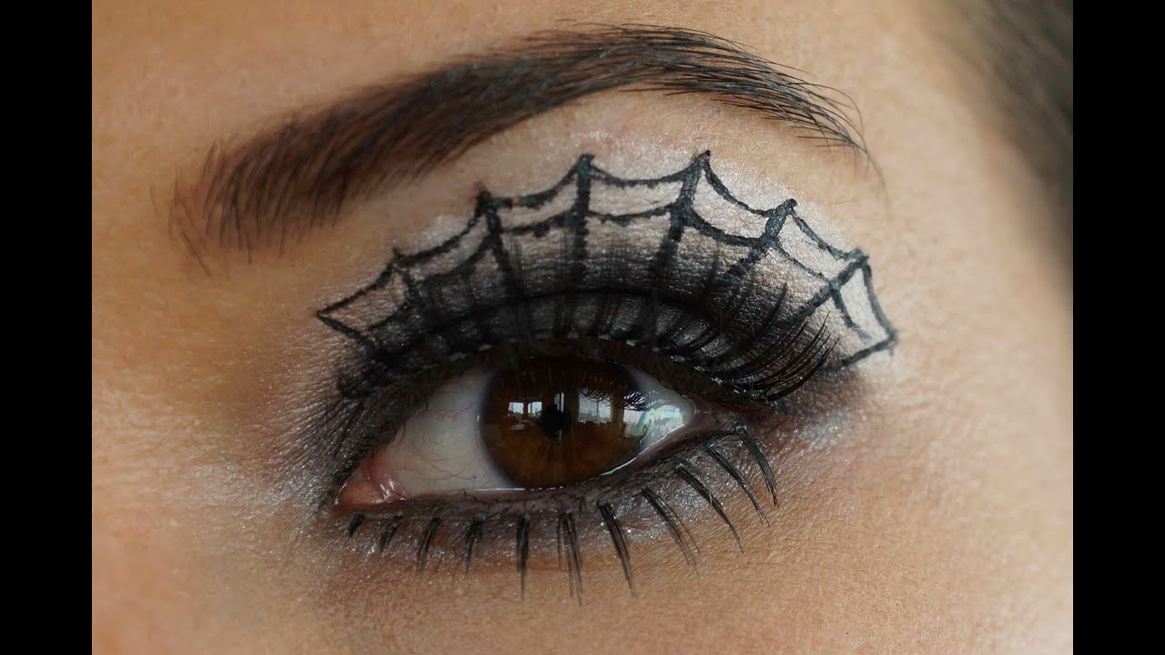 How to do Spider Web Eye Make-up- Tutorial - YouTube