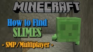 How to Find Slimes in SMP / Multiplayer - Minecraft Tutorial