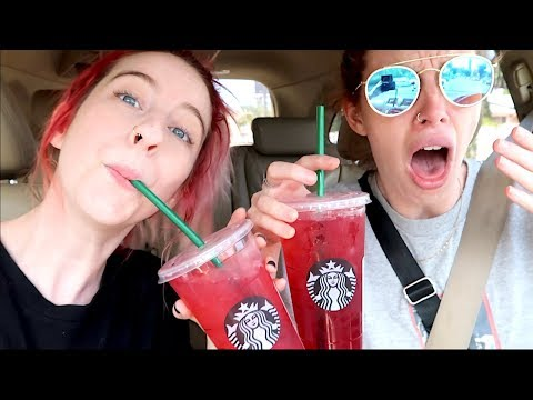 TRYING BRAND NEW STARBUCKS DRINKS!!