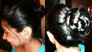 Easy braided hair updo Thumbnail