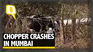 the quint robinson r44 helicopter crashes in aarey colony kills two