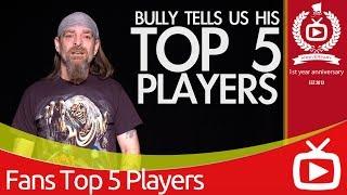 Arsenal Top 5 Favourite Players - Bully's Selection - ArsenalFanTV.com