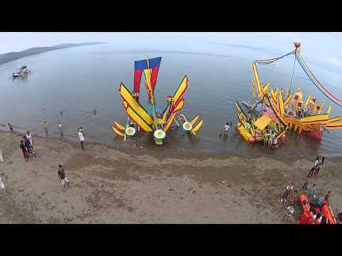 Aerial View of Guinakit (Fluvial Parade), Malapatan.Sarangani vid006