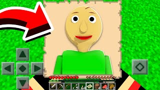 I FOUND A Baldi's Basics MAP in Minecraft Pocket Edition! *SCARY*