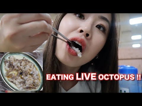EATING LIVE OCTOPUS IN BUSAN, SOUTH KOREA
